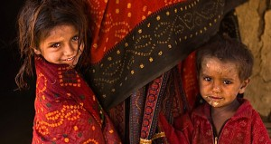 Tribal children, rural Kutch, Gujarat, India